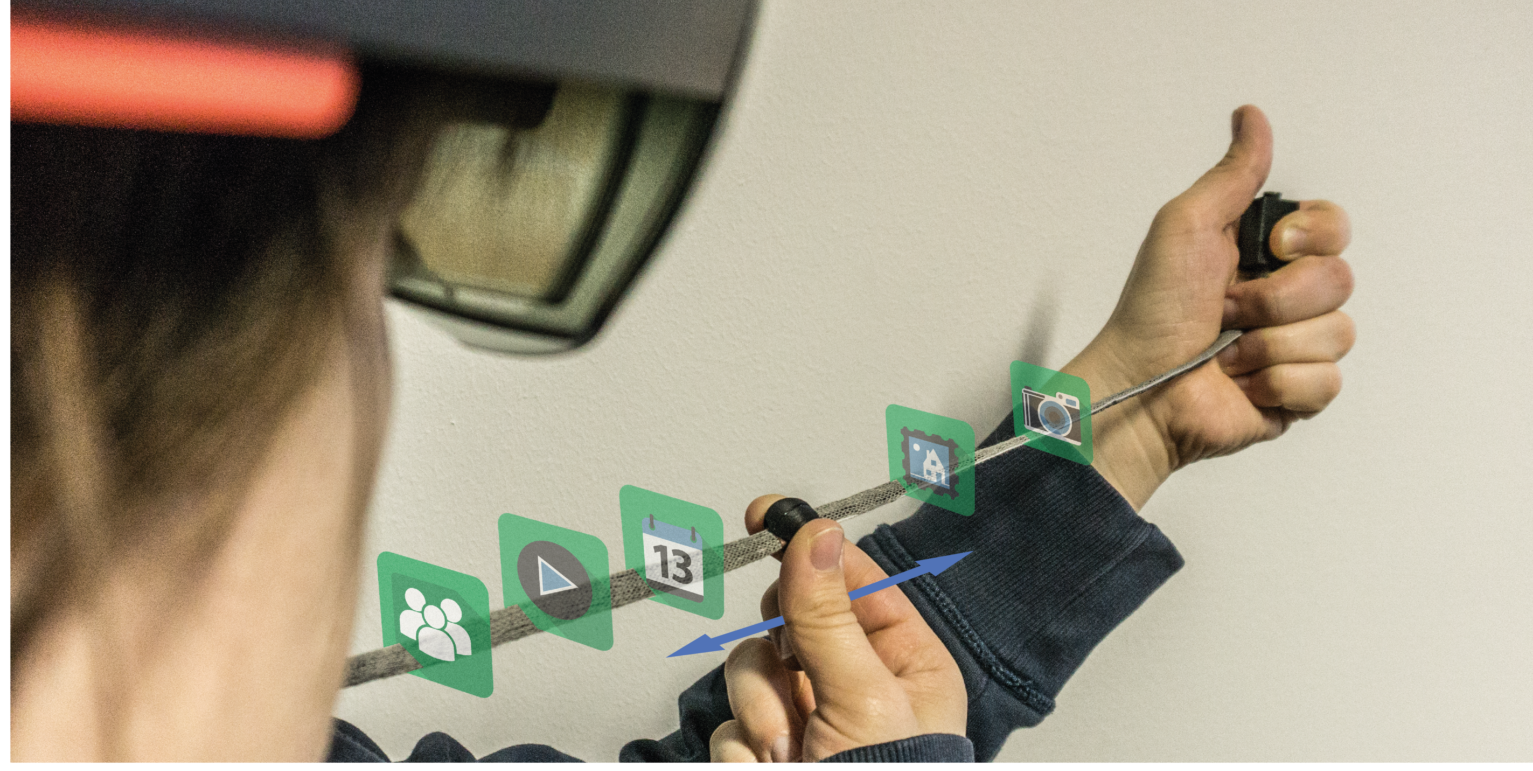 Preview for research project: ARCord: Visually Augmented Interactive Cords for Mobile Interaction