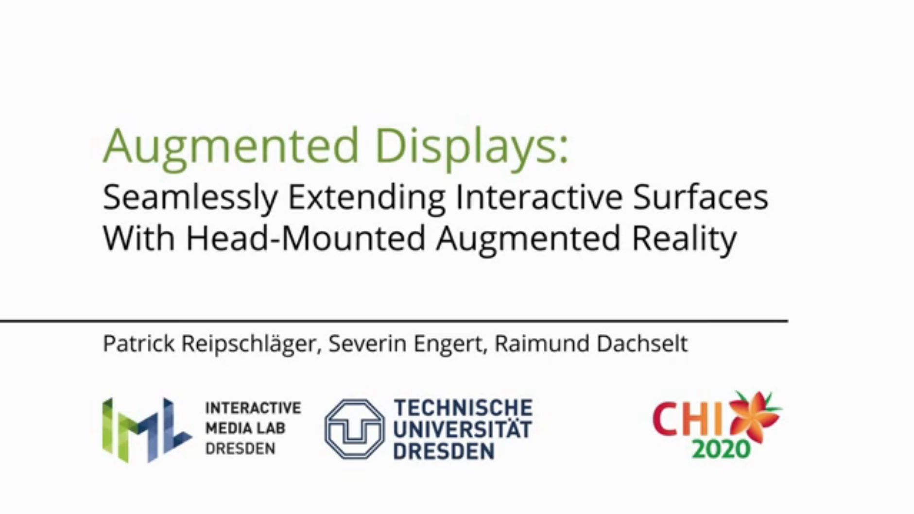 Full video of Augmented Displays.