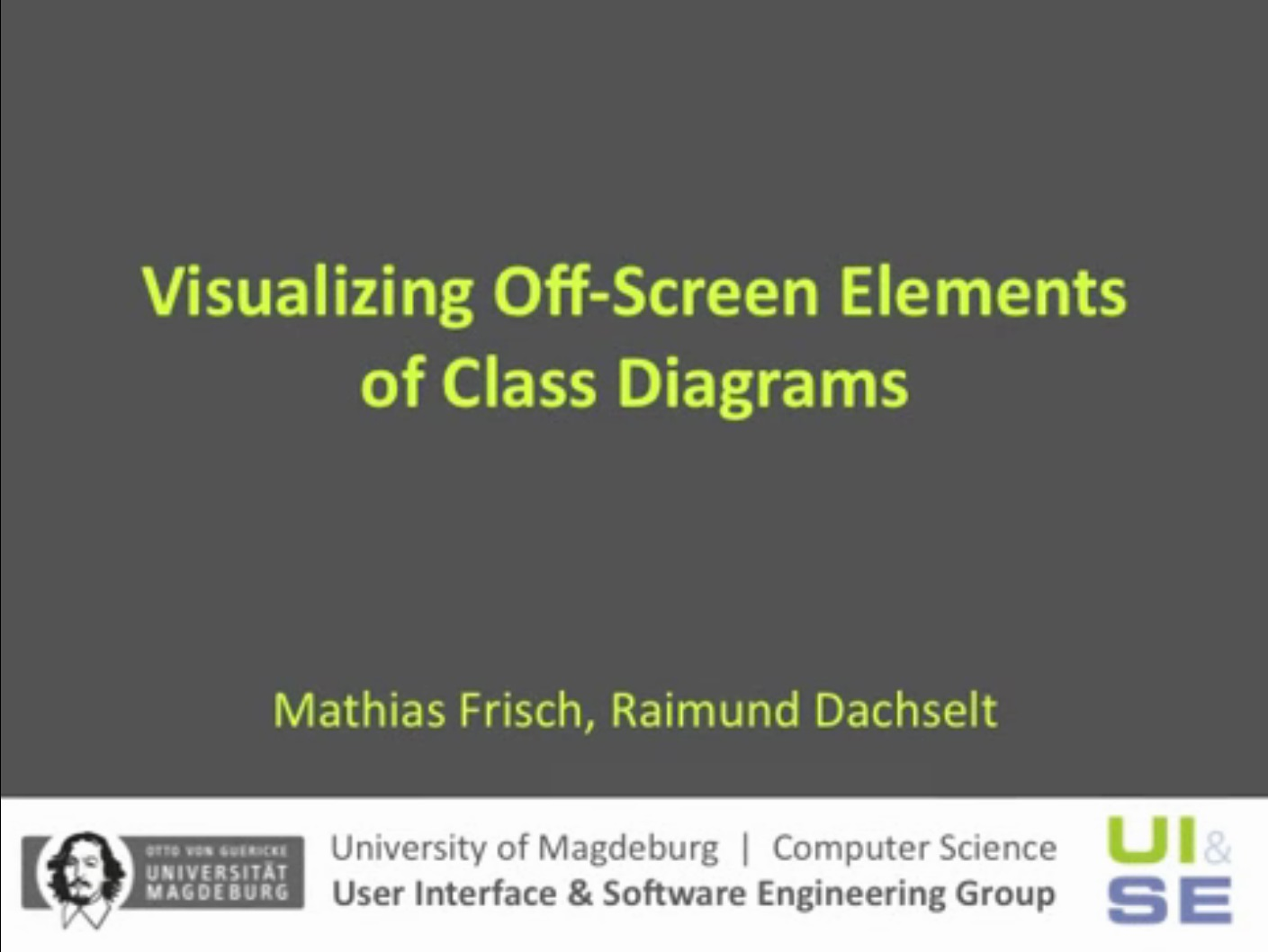 Full video of Visualizing Off-Screen Elements of Class Diagrams.