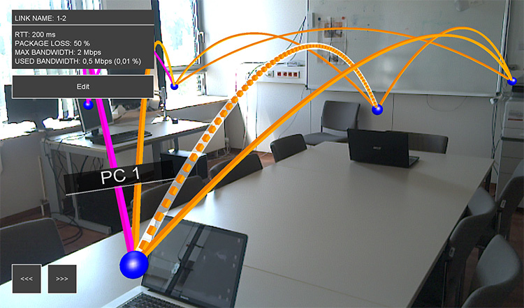 AR network visualization