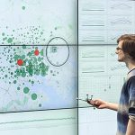Combining Interactive Large Displays and Smartphones to Enable Data Analysis from Varying Distances